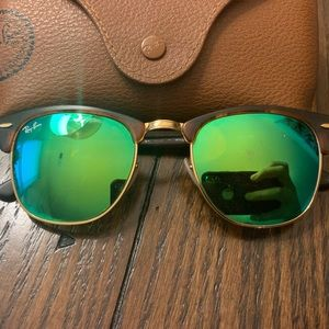Ray Ban Club Master Sunglasses with case